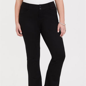 Studio Signature Ponte Stretch Trouser - Black